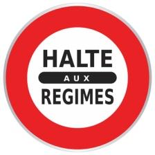 Panneau Halte aux Régimes - Annonce - Signalisation